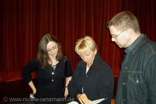Nicole mit Monika Felten und Markus Heitz