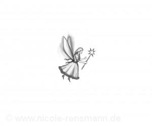 """Das ist Fräulein Klimper, meine Wimper-Wünsche-Fee aus dem Roman """"Niemand"""""""