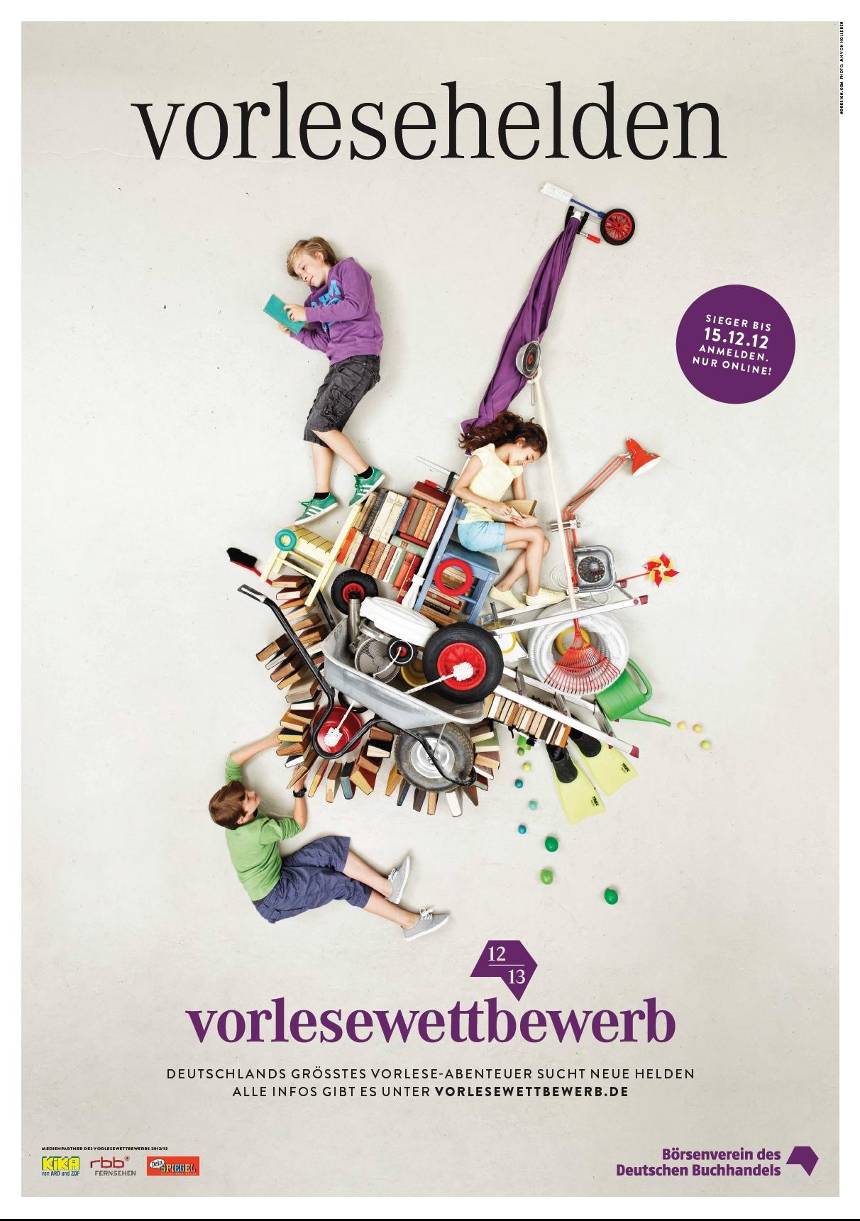 Plakat Bundesweiter Vorlesewettbewerb