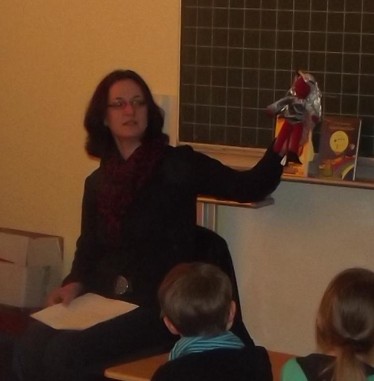 Lesung 2013 - in einer Grundschule mit LUZIFEE