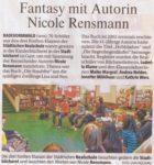 »Fantasy mit Autorin Nicole Rensmann«Bergische Morgenpost (Regionalteil Radevormwald), 15.04.2011