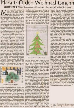 Mara trifft den Weihnachtsmann Weihnachtsgeschichte