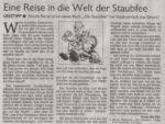 »Eine Reise in die Welt der Staubfee«Text: Hyun-Ho ChaRemscheider General Anzeiger, 28.12.2002