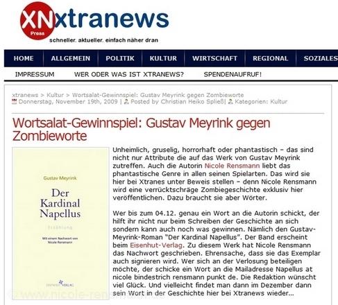 Das Nachrichtenportal Xtranews.de berichtet über die Entstehung der 2. Wortsalat-Geschichte