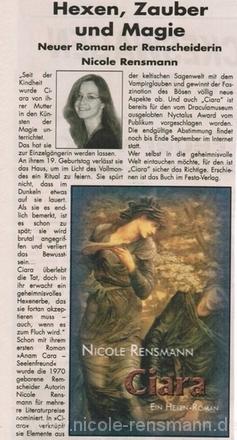 »Hexen, Zauber und Magie«RS Anzeigenblatt, 20.07.2005