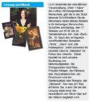 »Lesung und Musik« Ankündigung der Lesung bei »Wein und Käse« vom 17.10.2011, Remscheider Anzeigenblatt, 14.10.2011