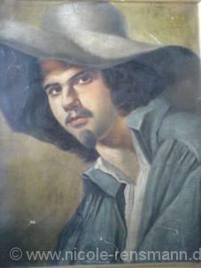 Ein Porträt Ob es sich um ein Selbstporträt handelt, ist nicht geklärt. Ich habe es jedoch zu diesem gemacht. So sieht Hermann in »Firnis« aus.