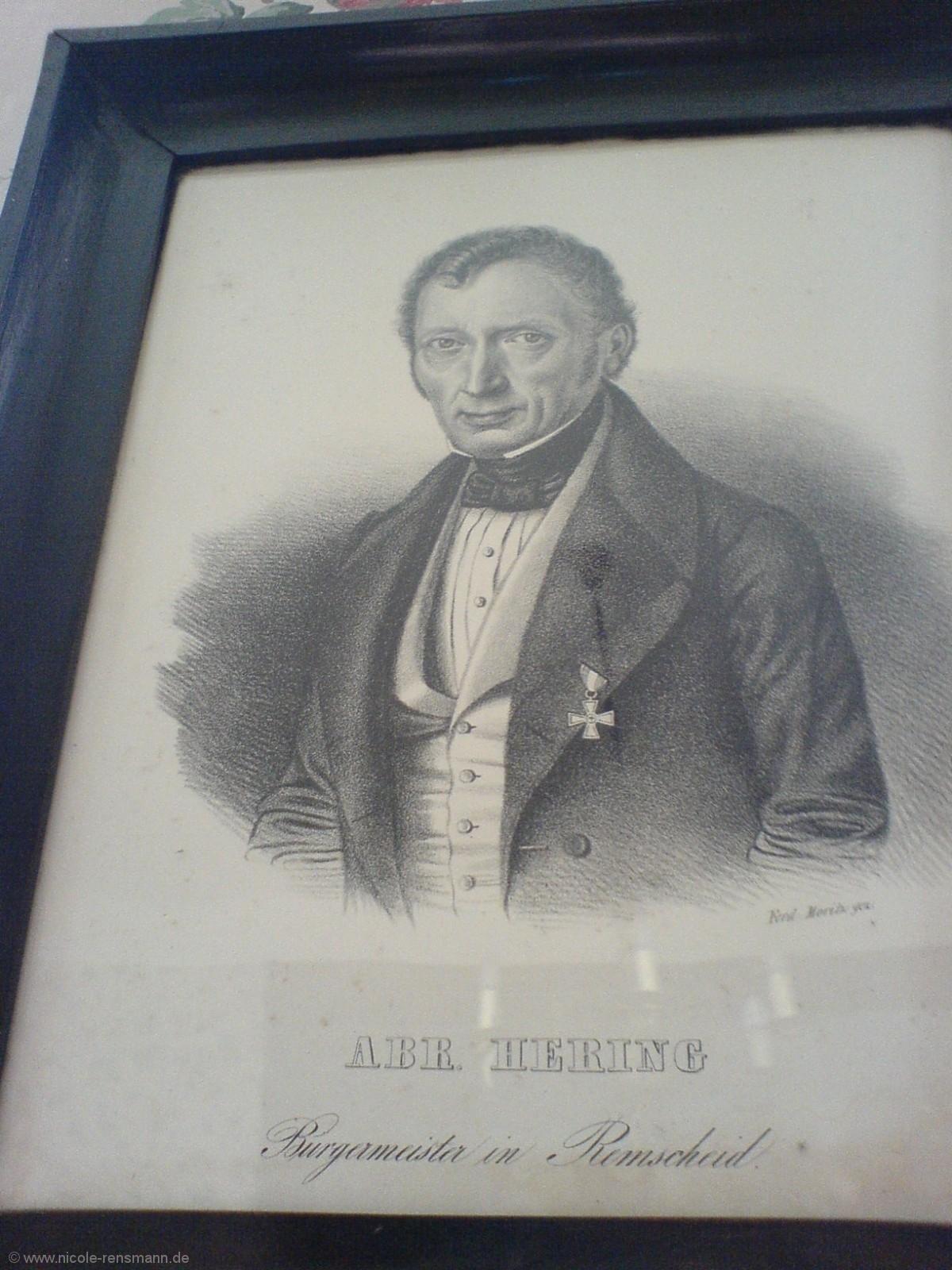 Porträt des Bürgermeisters von Remscheid Abraham Hering (Radierung)