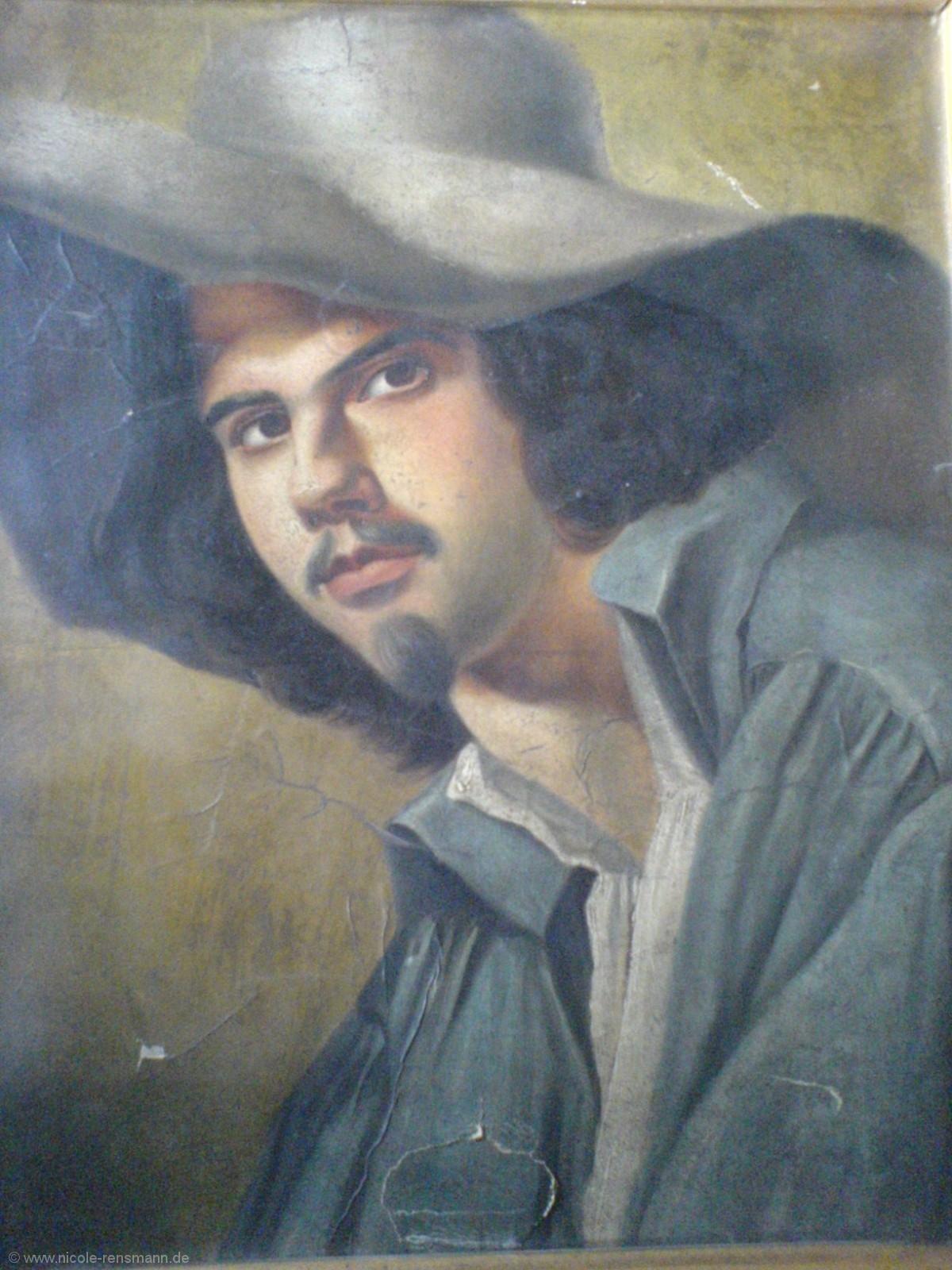 Porträt (Ölbild) - Es ist nicht bewiesen, ob es sich hier um ein Selbstporträt handelt. Im Roman jedoch sieht Hermann so aus.