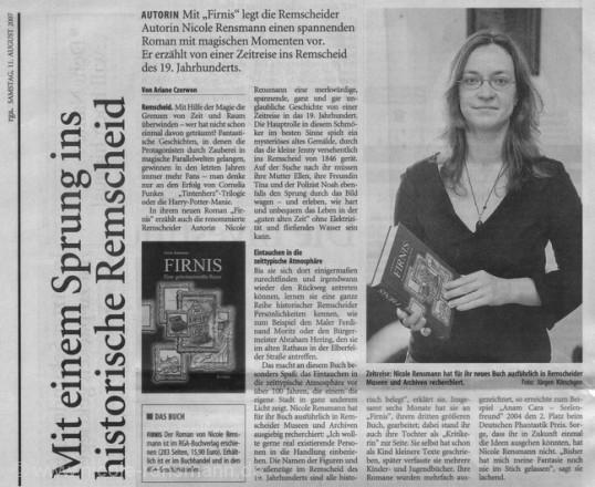 »Mit einem Sprung ins historische Remscheid«, rga, 11.8.2007