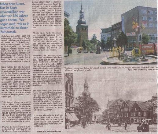 »Lust auf 'ne Zeitreise?« Remscheider General Anzeiger, xray, 19.06.2008 »Lust auf 'ne Zeitreise?« Remscheider General Anzeiger, xray, 19.06.2008