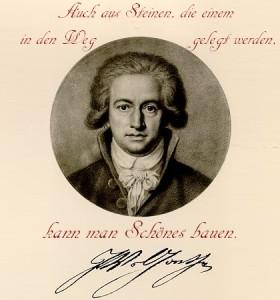 """""""Auch aus Steinen, die einem in den Weg gelegt werden, kann man Schönes bauen"""". - Goethe"""