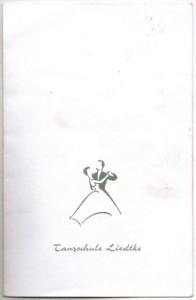 Mein erster Abschlussball-Pass; Hier trugen sich die Tanzpartner für die einzelne Tänze ein. Das war jedes Mal sehr aufregend.