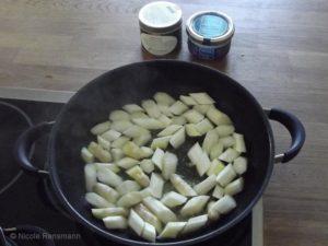 Spargel in Olivenöl und Butter angebraten ist für mich die schmackhafteste Verarbeitung von Spargel.