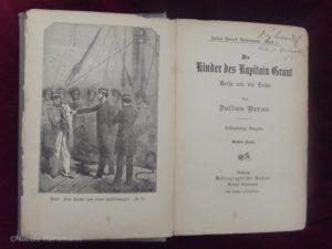 Julius Vernes Reiseromane - Die Kinder des Kapitän Grant, erschinen um 1900 - Innen.