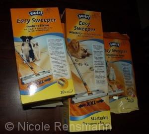 Das Easy Sweeper Testpaket mit allem, was ich gegen Tierhaare benötige. Wirklich?