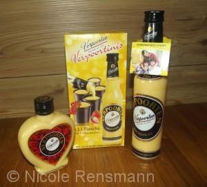 VERPOORTEN bietet seinen Eierlikör in verschiedenen Verpackungen und Flaschen in unterschiedlichen Größen an.