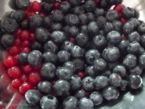 Johannisbeeren und Heidelbeeren - so lecker! Pur, im Kuchen, als Nachtisch oder mit Sahne ...