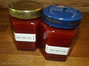 Tomaten-Ingwer-Chutney (oder Konfitüre - egal - Hauptsache es schmeckt!)
