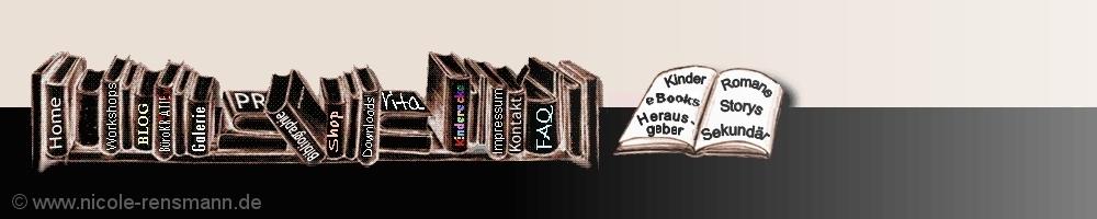 Ein bisschen Retro: Meine Webseite steht bereits seit dem Jahr 2000 im Netz. Diese Navigation im Stil eines Buchregals - entworfen von groessenwahn.com - erfüllte bis 2014 seine Pflicht. Nun sind die Bücher etwas verstaubt und müssen pfleglicher behandelt und somit nicht mehr aufgeklappt werden.