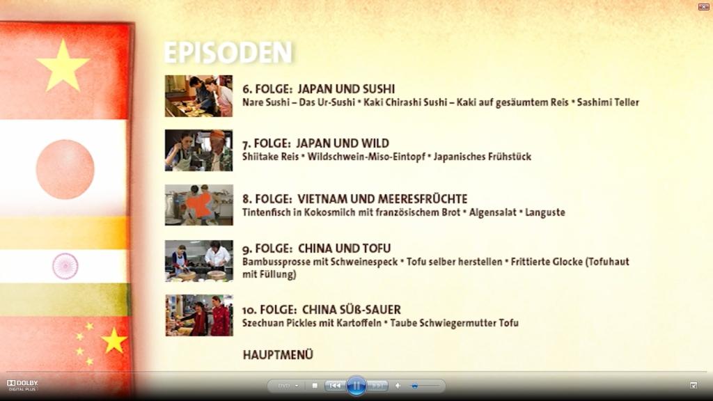 Screenshot DVD 2 »Die kulinarischen Abenteuer der Sarah Wiener in Asien«