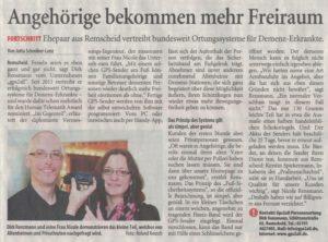 """Scan: rga-Artikel 13..12.2014 """"Angehörige bekommen mehr Freiraum"""" von Jutta Schreiber-Lenz / Foto: Michael Keusch"""