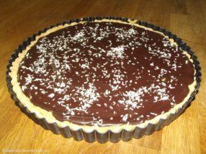 Kokos-Schokoladen-Tarte nach Aurélie.