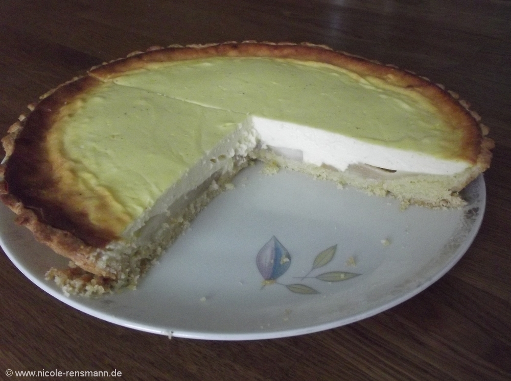 Birne-Vanille-Käsekuche-Tarte
