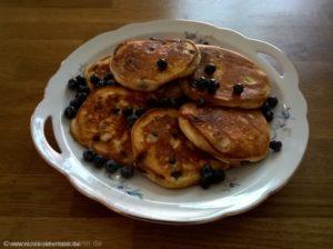 Blaubeer-Pancake