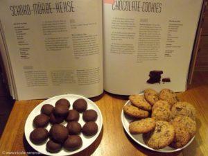 Schoko-Mürbe-Kekse & Chocolate-Cookies nach Rezepten der Konditorei Heinemann.