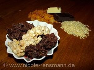 Knusper Pralinen - selbstgemacht in drei Geschmacksrichtungen