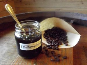 Kaffeegelee - damit kein Kaffee weggeschüttet wird.