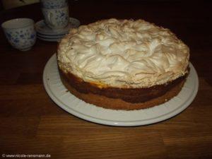 Bratapfelkuchen mit Baiserhaube - Restekuchen