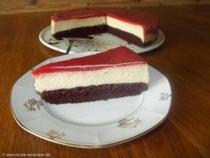 Erdbeer-Bananen-Cheesecake
