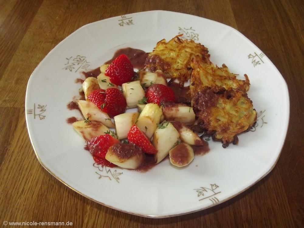 Regional und saisonal: Erdbeer-Rhabarber-Salat