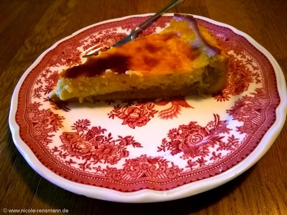 Rhabarberkuchen mit Vanillepudding - der Beste.