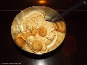 Amaretto-Eis - Zustand nach 24 Stunden. Süß, cremig und lecker!