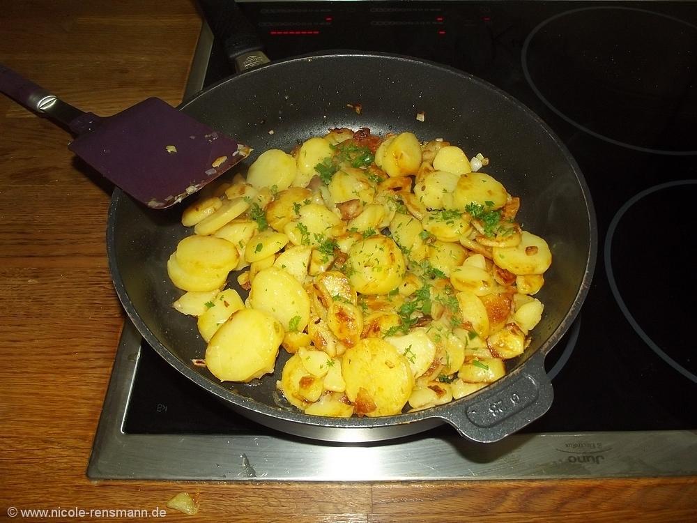 Bratkartoffeln - in der Mache