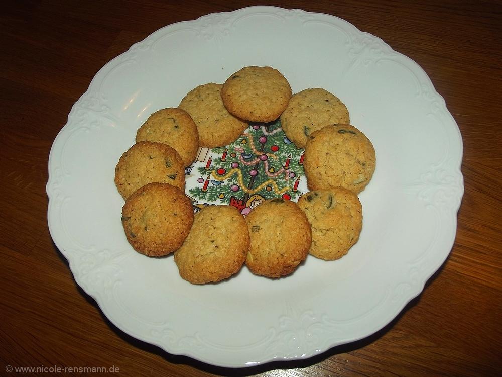 Küribskern-Haferflocken-Kekse