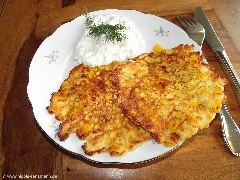 Mais-Zucchini-Plätzchen