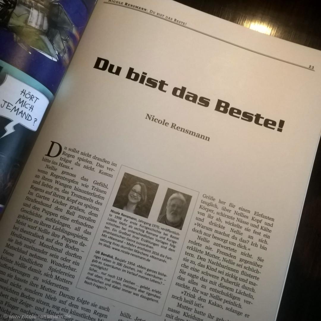 """""""Du bist das Beste!"""" - Kurzgeschichte in EXODUS #35"""