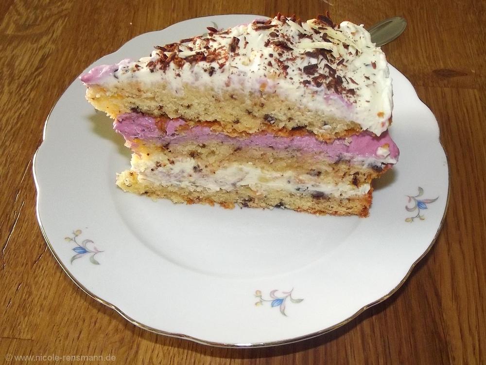Vom Backen Lavendel Crunch Schokosplitt Torte Nicole Rensmann