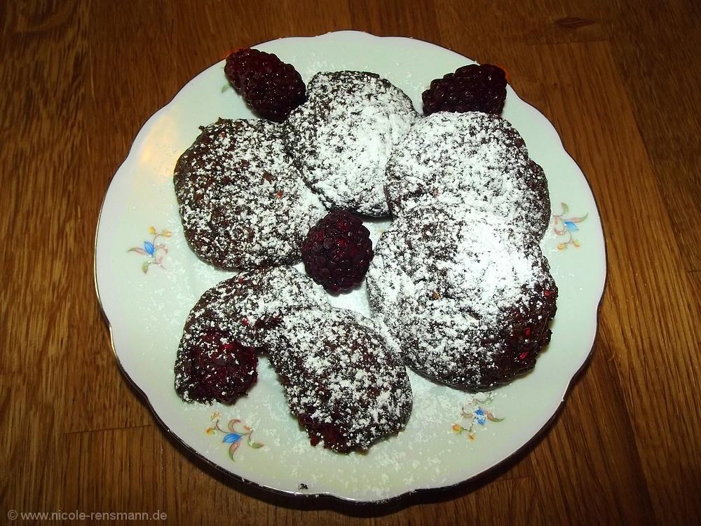Schoko-Brombeer-Cookies