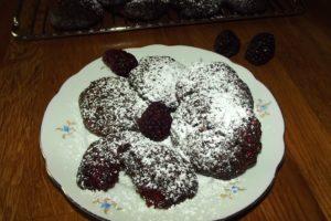 Schokoladen-Brombeer-Cookies