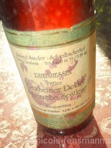 Etikett 1992er Dexheimer Doktor Faberrebe Spätlese / 2016