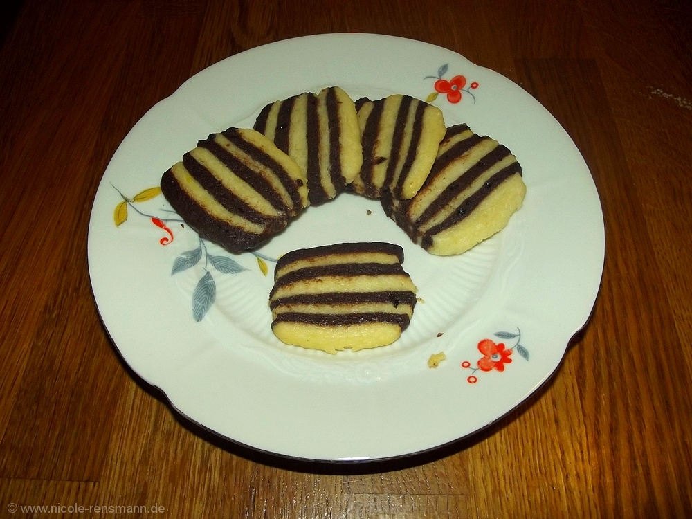 Gestreifte Kekse