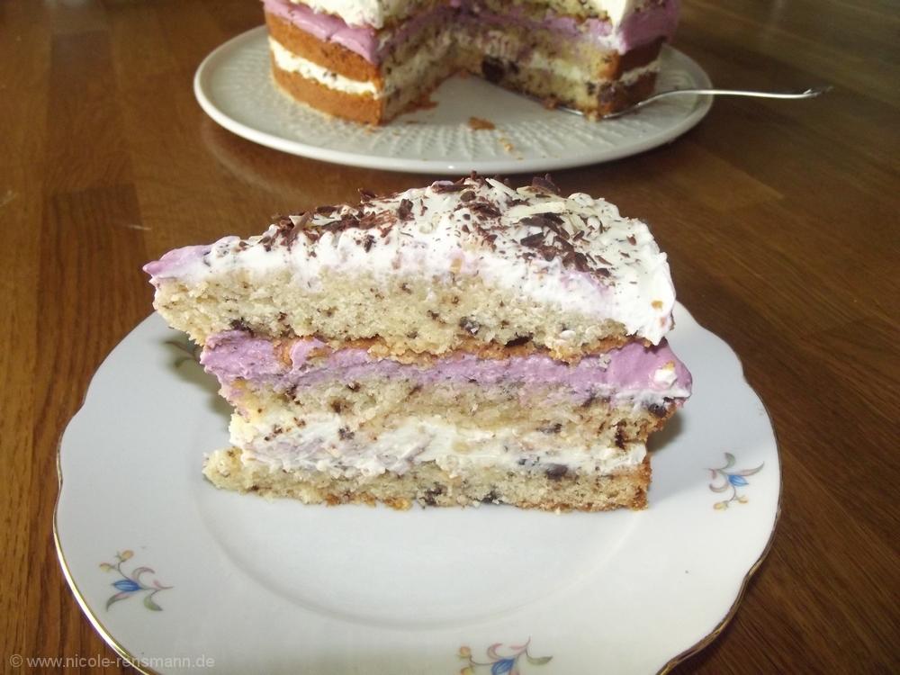 Meine Lavendel-Crunch-Schokosplitt-Torte
