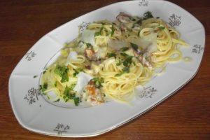 Spaghetti mit Pfifferling-Sauce
