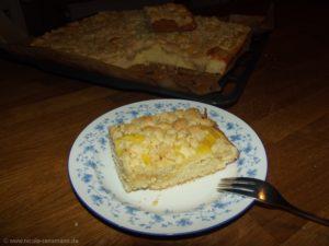 Streuselkuchen mit Orangen-Vanillecreme - lecker!