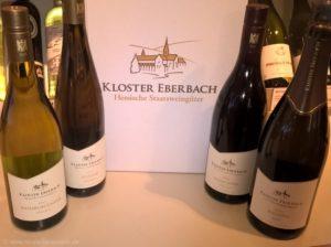 Kleines Weinsortiment Kloster Eberbach = Pinot Noir, Riesling, Riesling Sekt, Weißburgunder